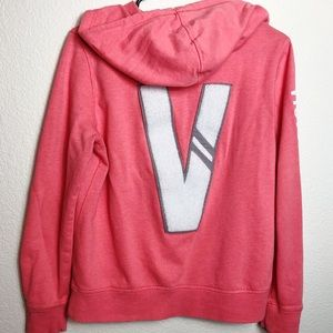 Victoria's Secret coral colored hoodie. Size M